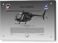 Ah-6j Little Bird Acrylic Print by Arthur Eggers