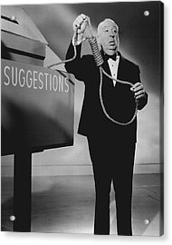 Alfred Hitchcock Acrylic Print by Retro Images Archive