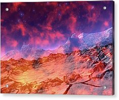 Alien Planet Acrylic Print by Victor Habbick Visions/science Photo Library