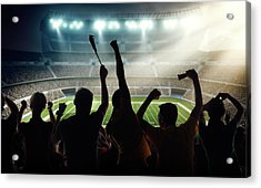 American Football Fans At Stadium Acrylic Print by Dmytro Aksonov