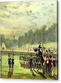 An Account Of The Tournament At Eglinton Acrylic Print by Litz Collection