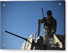 An Afghan National Army Soldier Acrylic Print by Stocktrek Images