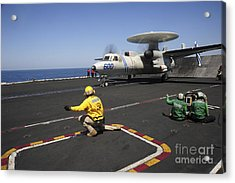 An E-2c Hawkeye Launches Acrylic Print by Stocktrek Images