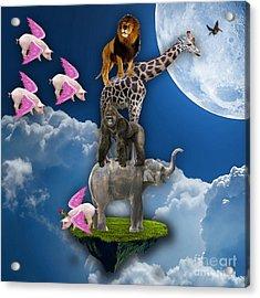 Angels Flight Acrylic Print by Marvin Blaine