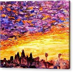 Angkor Sunrise Acrylic Print