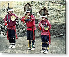 Acrylic Print featuring the photograph Apache Crown Dancers by Juls Adams