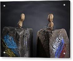 Apart Acrylic Print by Nailia Schwarz