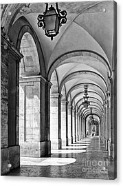 Arcades Of Lisbon Acrylic Print by Jose Elias - Sofia Pereira