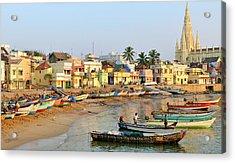 Asia, India, Tamil Nadu, Kanniyakumari Acrylic Print by Steve Roxbury