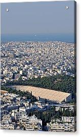 Athens And Panathenean Stadium Acrylic Print by George Atsametakis