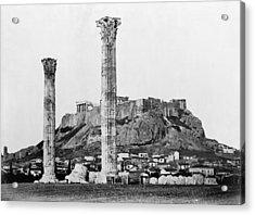Athens Olympian Zeus Acrylic Print