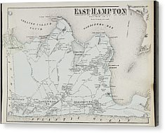 Atlas Of Long Island Acrylic Print