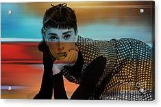 Audrey Hepburn Art Acrylic Print by Marvin Blaine