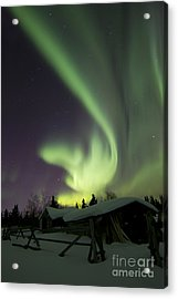 Aurora Borealis And The Big Dipper Acrylic Print by Joseph Bradley