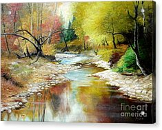 Autumn Acrylic Print by Sorin Apostolescu