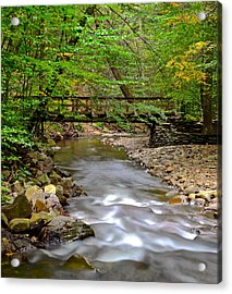 Babbling Brook Acrylic Print by Frozen in Time Fine Art Photography