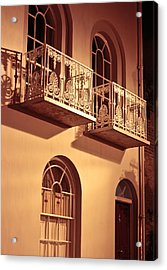 Balconies Acrylic Print by Tom Gowanlock