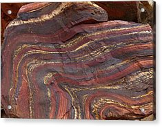 Banded Iron Formation Acrylic Print by Dirk Wiersma