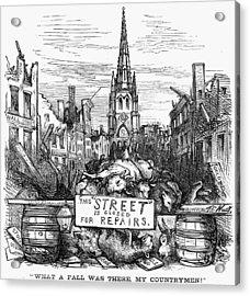 Bank Panic, 1869 Acrylic Print