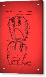 Baseball Glove Patent 1943 Acrylic Print by Mountain Dreams