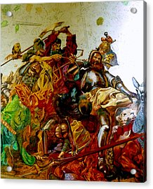 Acrylic Print featuring the painting Battle Of Grunwald by Henryk Gorecki