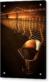 Bay Bridge At Night Acrylic Print by Celso Diniz