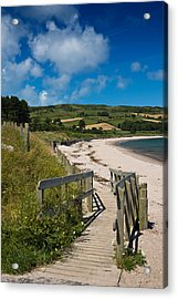 Beach At Cushendun Acrylic Print by Jane McIlroy