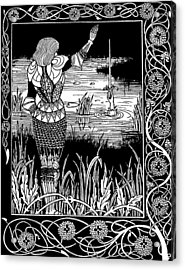 Beardsley Morte D'arthur Acrylic Print by Granger