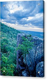 Beautiful Aerial Landscape Views From Crowders Mountain Near Gas Acrylic Print