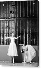 Beautiful Young Ballet Dancers In Rehearsal Acrylic Print by Ilya Lokalin