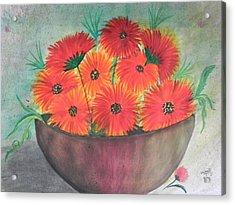 Beauty Acrylic Print by Usha Rai