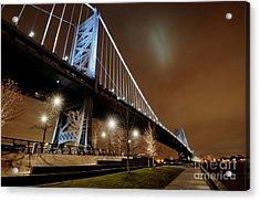 Ben Franklin Bridge At Night Acrylic Print