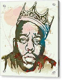Biggie Smalls Modern Art Drawing Poster Acrylic Print