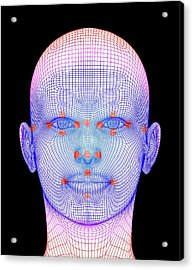 Biometric Facial Map Acrylic Print