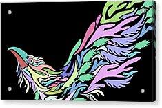 Bird Acrylic Print by Moshfegh Rakhsha