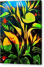 Acrylic Print featuring the painting Black Moments by Nico Bielow