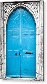 Blue Door Acrylic Print by Tom Gowanlock