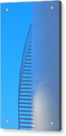 Blue Stairs Acrylic Print by John King