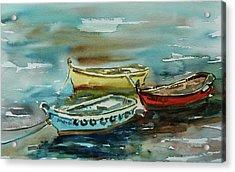 3 Boats II Acrylic Print by Xueling Zou