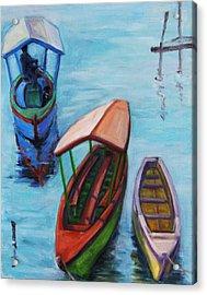3 Boats IIi Acrylic Print by Xueling Zou