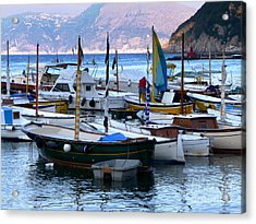 Acrylic Print featuring the photograph Boats In The Harbor by Mike Ste Marie