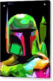 Boba Fett Star Wars Acrylic Print by Daniel Janda