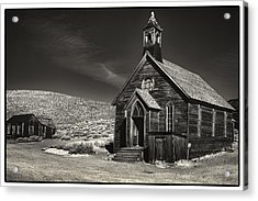Bodie Church Acrylic Print by Robert Fawcett