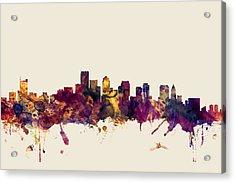 Boston Massachusetts Skyline Acrylic Print by Michael Tompsett
