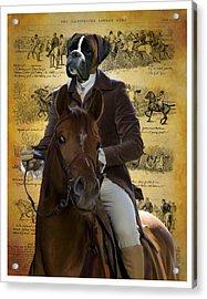 Boxer Art Canvas Print Acrylic Print