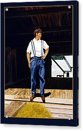Boy In The Barn Acrylic Print by Ron Haist