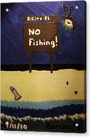Bp Oil Spill Acrylic Print by Bamhs Blair