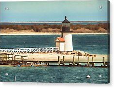 Brant Point Lighthouse Acrylic Print by Jeff Folger