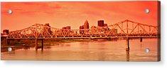 Bridge Across A River, John F. Kennedy Acrylic Print