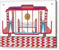 3 Bridges And Cable Car Acrylic Print